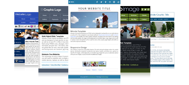 Mobile Responsive Website Templates