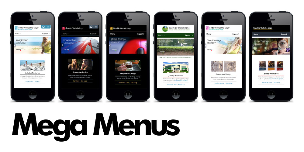 Business Responsive Mega Menu Web Templates