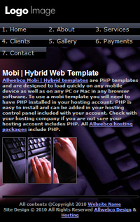 mobi-Hybrid mobile Website Templates